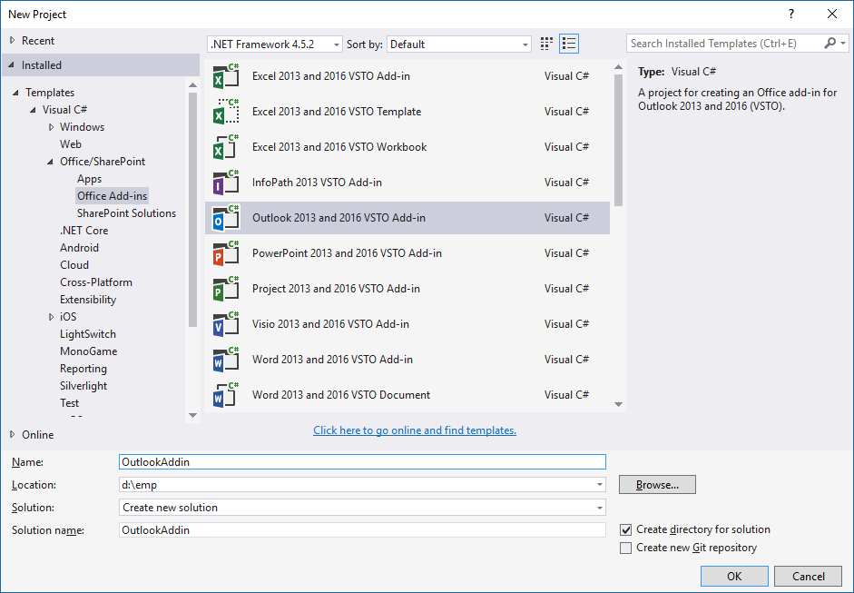 How to create a simple office VSTO add-in :A step by step